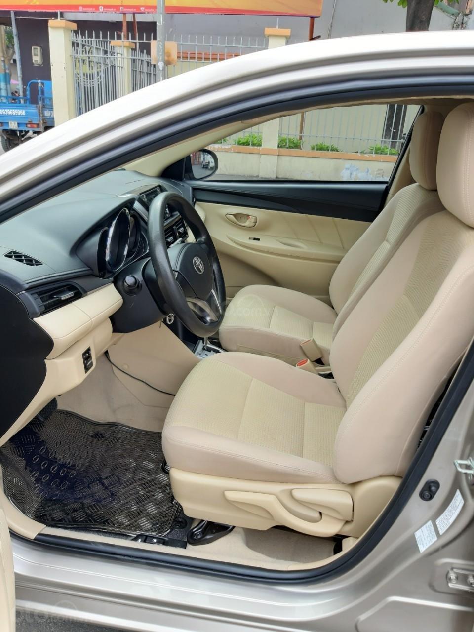 Bán xe Toyota Vios E model 2017, màu kem, nhập khẩu còn rất mới, giá 520tr-11