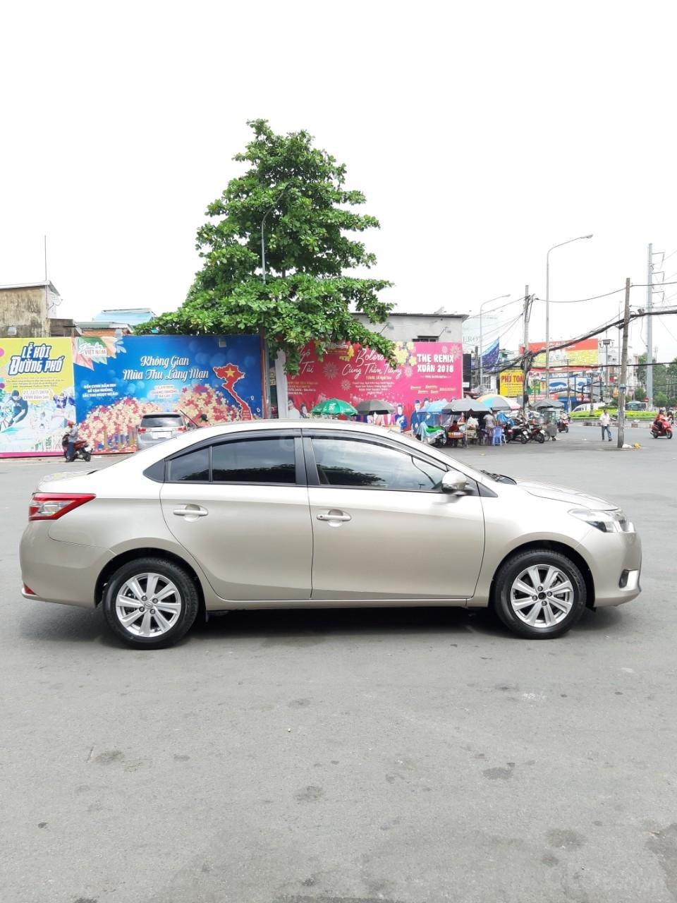 Bán xe Toyota Vios E model 2017, màu kem, nhập khẩu còn rất mới, giá 520tr-12