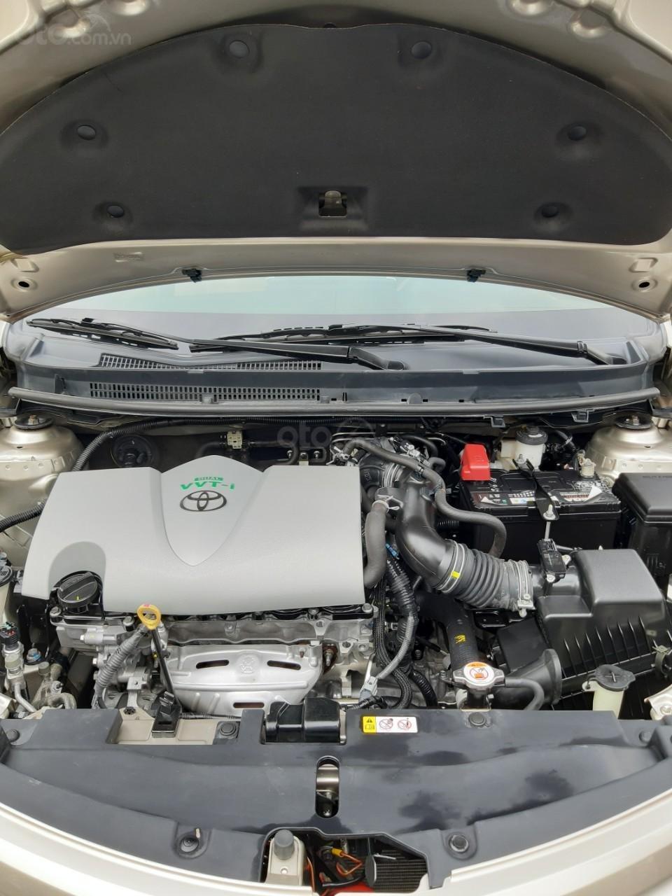 Bán xe Toyota Vios E model 2017, màu kem, nhập khẩu còn rất mới, giá 520tr-10
