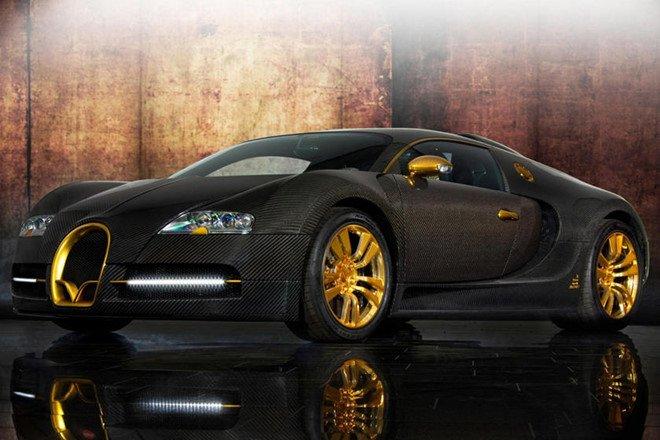 Chiêm ngưỡng 8 mẫu xe dát vàng sang chảnh nhất toàn cầu: Mansory Bugatti Veyron Linea Vincero d'Oro.