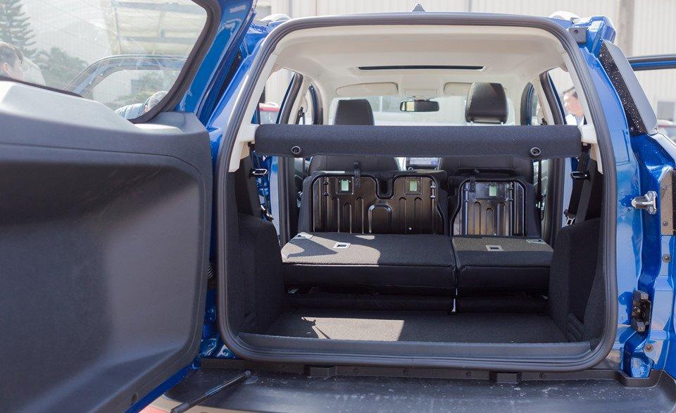 Đánh giá xe Ford Ecosport 2018: Khoang hành lý là một trong những ưu điểm của xe.