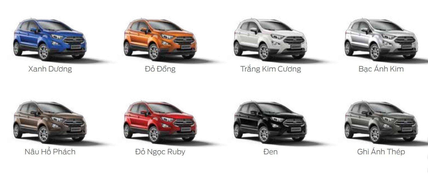 Ford EcoSport 2018 có 8 màu ngoại thất.