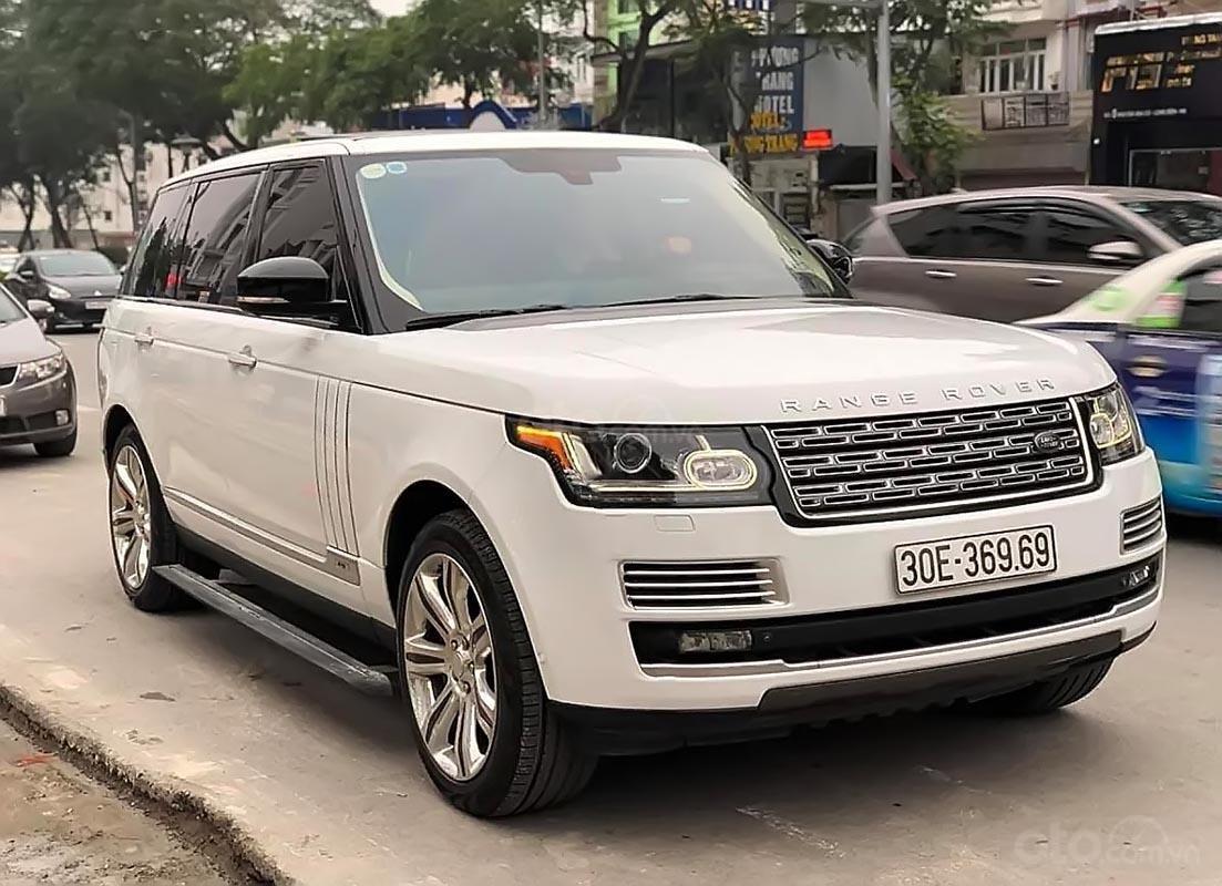 Bán lại xe LandRover Range Rover Autobiography LWB Black Edition sản xuất 2015, màu trắng, nhập khẩu chính chủ-0