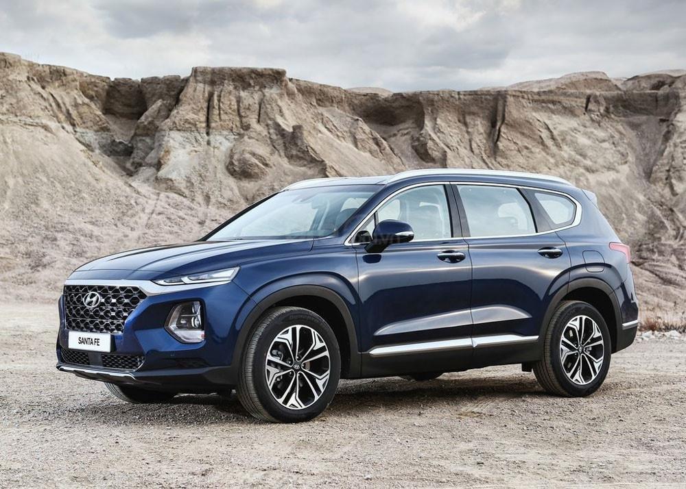 Hyundai Elantra màu xanh đen, phiên bản 2019...