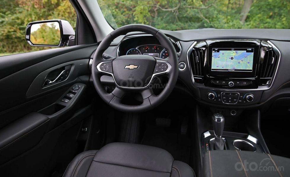 Đánh giá xe Chevrolet Traverse 2019 vô lăng