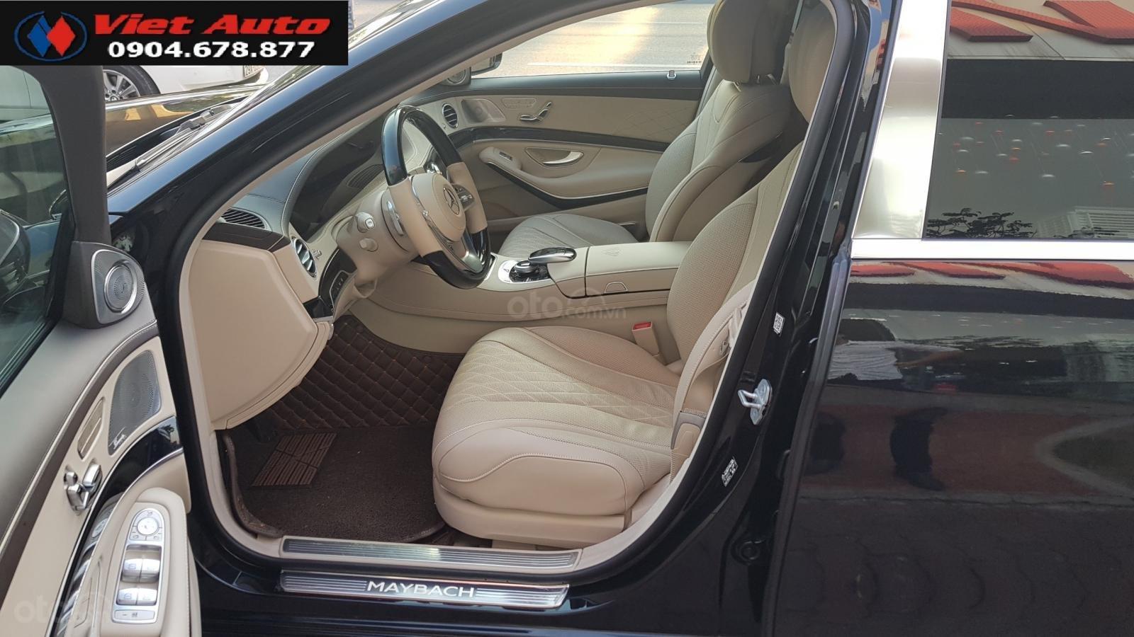 Bán Mercedes-Benz S450 Maybach màu đen, nội thất kem, xe sản xuất 2017, đăng ký lần đầu 4/2018 tên công ty-4