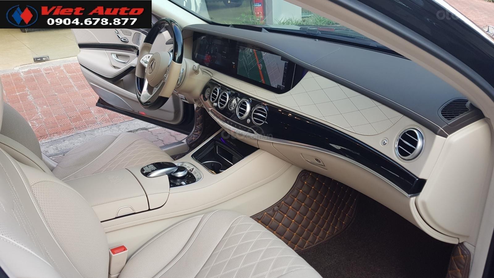 Bán Mercedes-Benz S450 Maybach màu đen, nội thất kem, xe sản xuất 2017, đăng ký lần đầu 4/2018 tên công ty-7