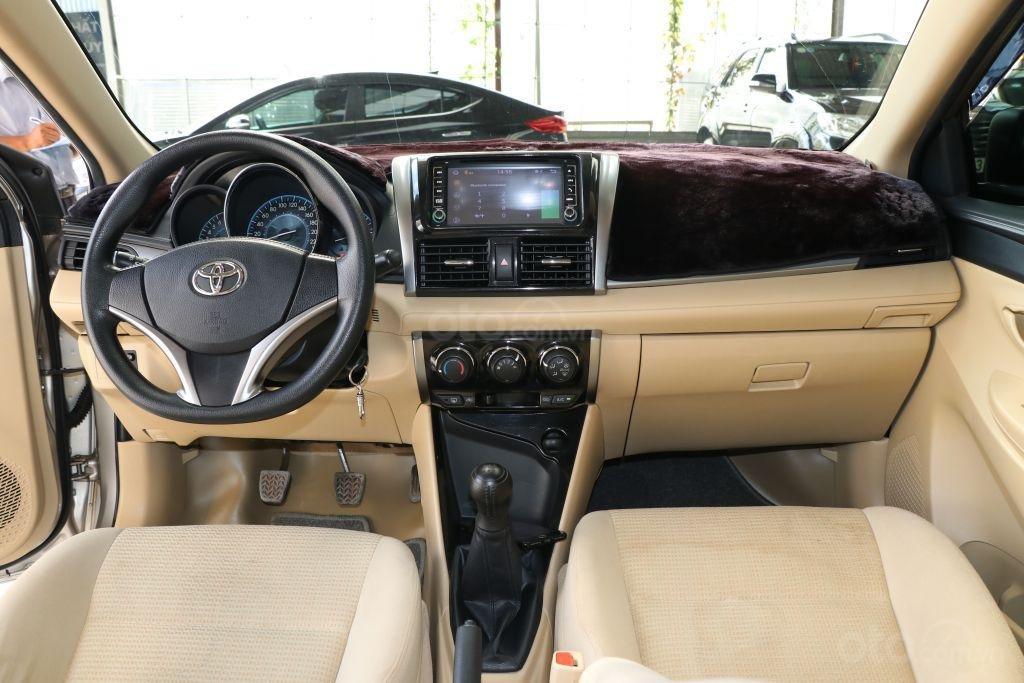 Bán Toyota Vios E 1.5MT năm 2017, màu vàng, 498tr-9