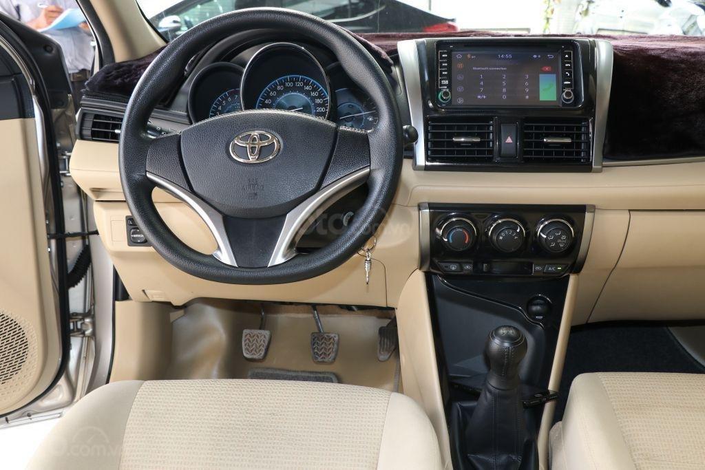Bán Toyota Vios E 1.5MT năm 2017, màu vàng, 498tr-10
