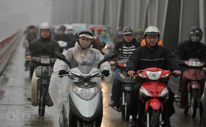 Tiết trời mưa lạnh ở Hà Nội...