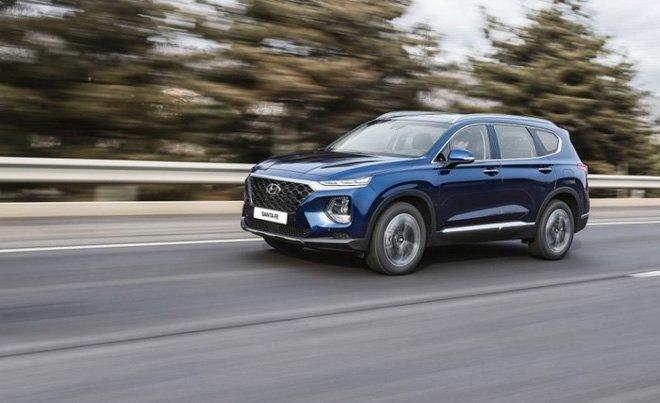 Ảnh chụp động cơ xe Hyundai Santa Fe 2019