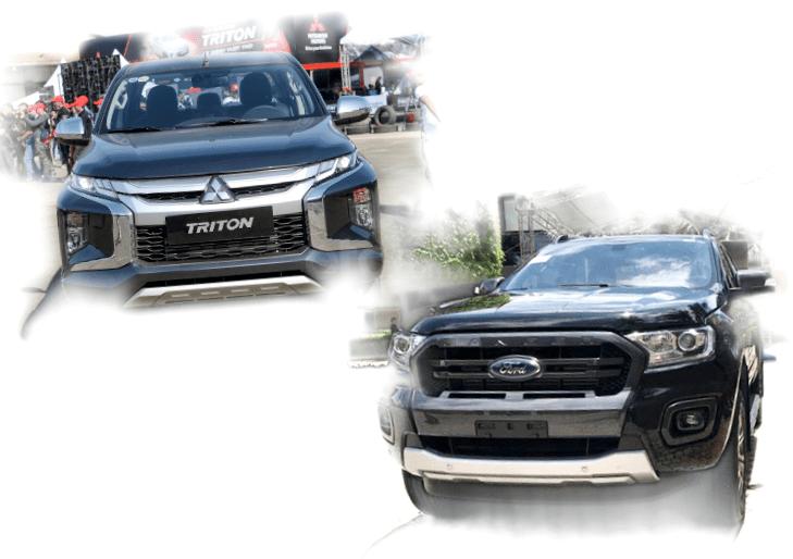 Mitsubishi Triton MIVEC 4x4 AT 2019 và Ford Ranger Wildtrak 4x4 AT 2018