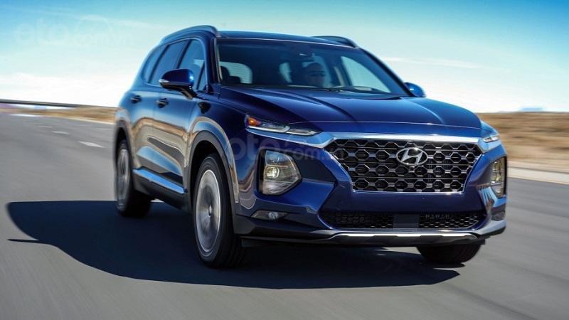 Hyundai SantaFe màu xanh đen phiên bản 2019...