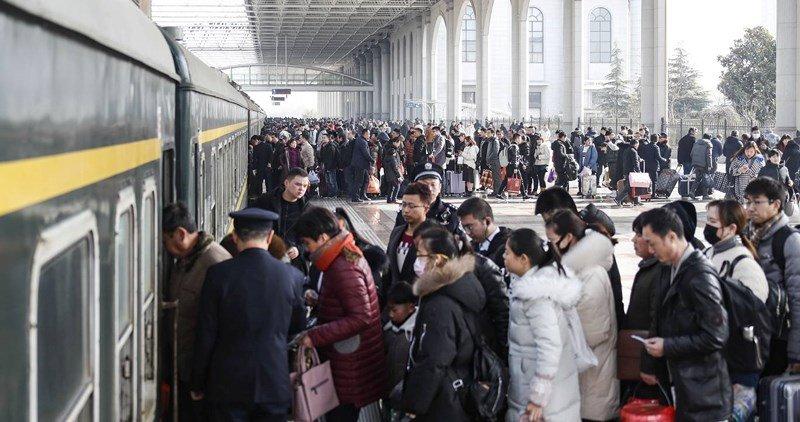 Cảnh di dân lớn nhất năm ở Trung Quốc trước Tết Nguyên đán 2019 2