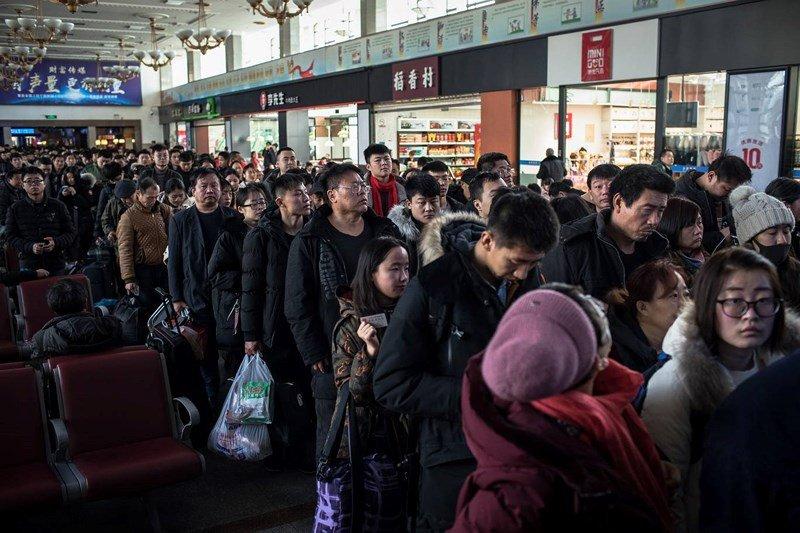 Cảnh di dân lớn nhất năm ở Trung Quốc trước Tết Nguyên đán 2019 3