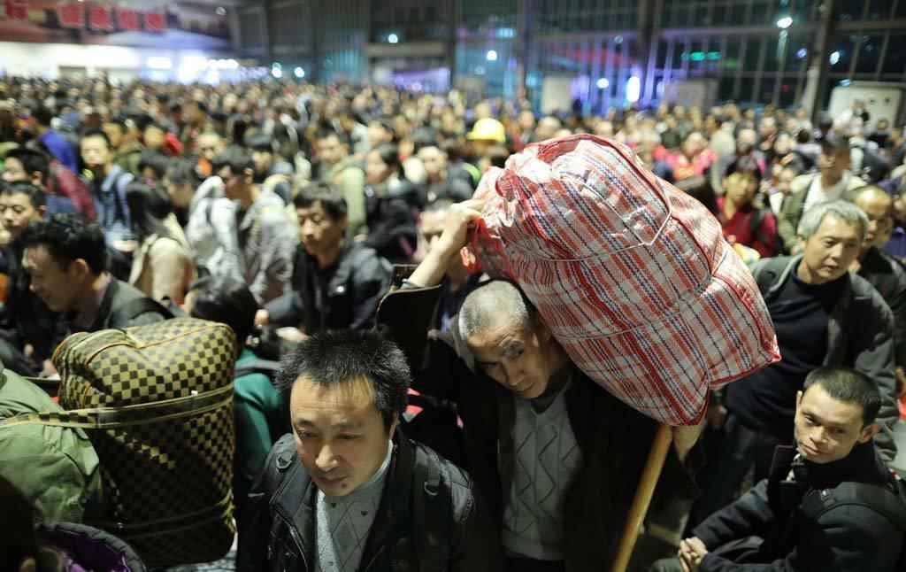 Cảnh di dân lớn nhất năm ở Trung Quốc trước Tết Nguyên đán 2019 5