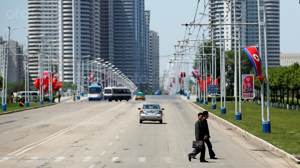 Đường phố ở Triều Tiên...