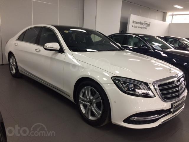 Bán xe Mercedes-Benz S450L, 2018, màu trắng, 3.800 km, 2% thuế trước bạ-1