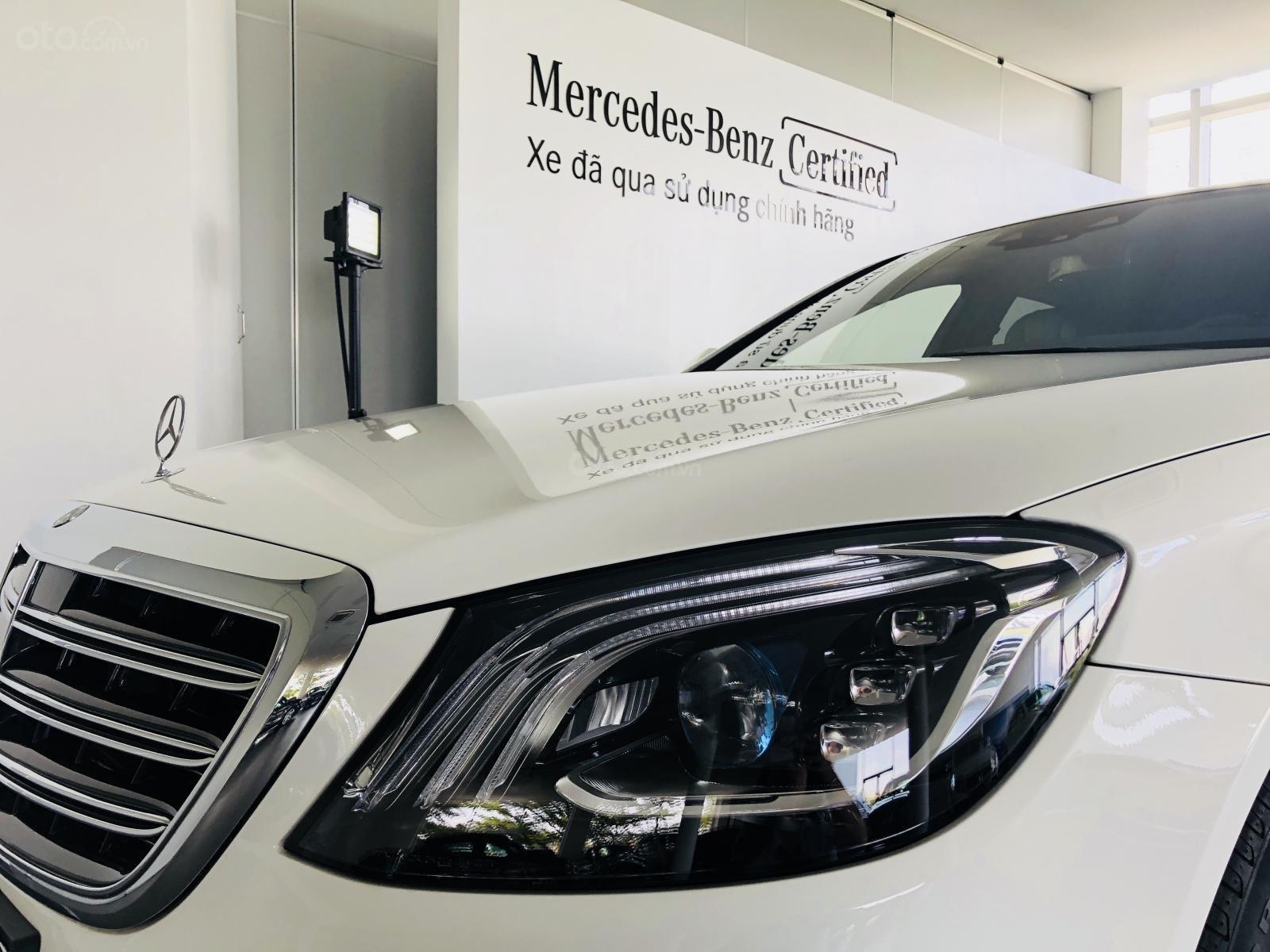 Bán xe Mercedes-Benz S450L, 2018, màu trắng, 3.800 km, 2% thuế trước bạ-8
