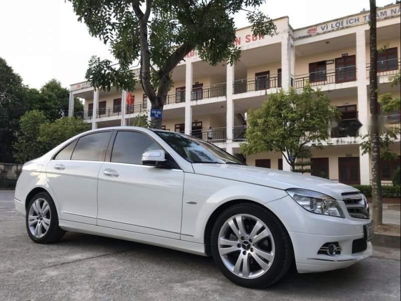 Cần bán gấp Mercedes C200 2008, màu trắng-0