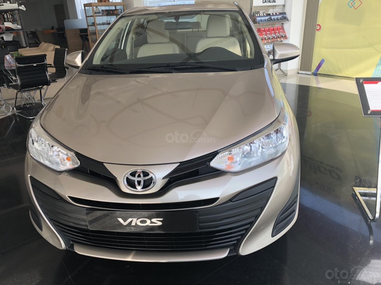 Toyota Vios 1.5E số sàn, màu nâu vàng, hỗ trợ vay 90%, đăng ký grab, thanh toán 130tr nhận xe - Toyota An Thành-1
