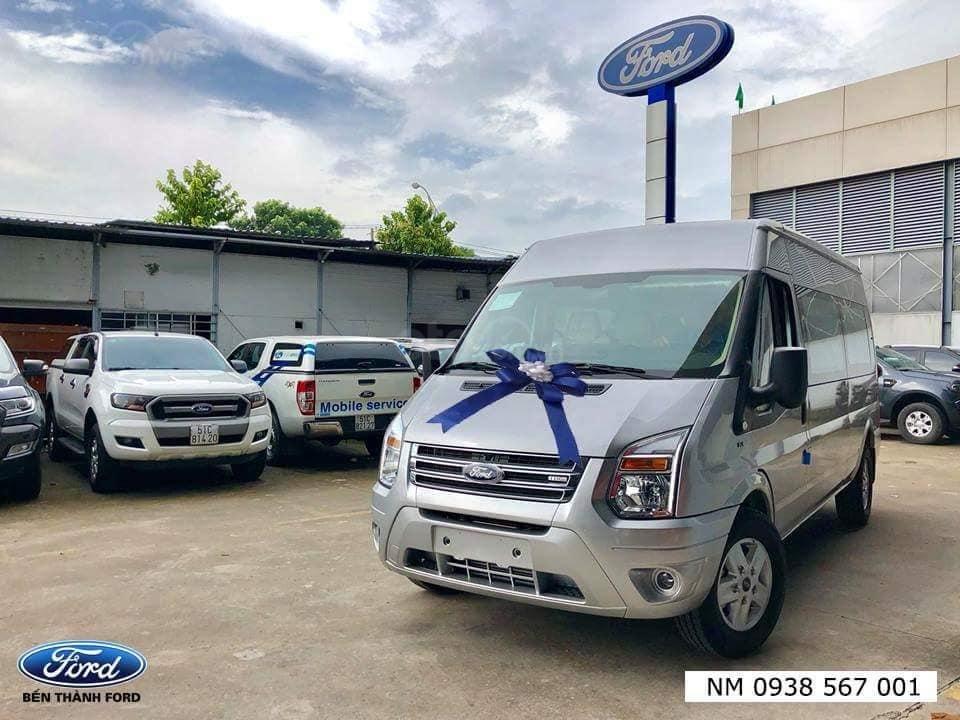 Giao ngay xe Ford Transit 2019, giá cực tốt, tặng: Hộp đen, BHVC, bọc trần, lót sàn, ghế da, gập ghế, LH: 091.888.9278-7