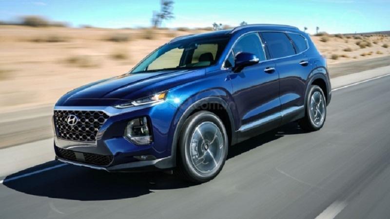 Hyundai SantaFe 2019 màu xanh đen...
