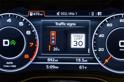 Công nghệ tránh đèn đỏ trên Audi a1