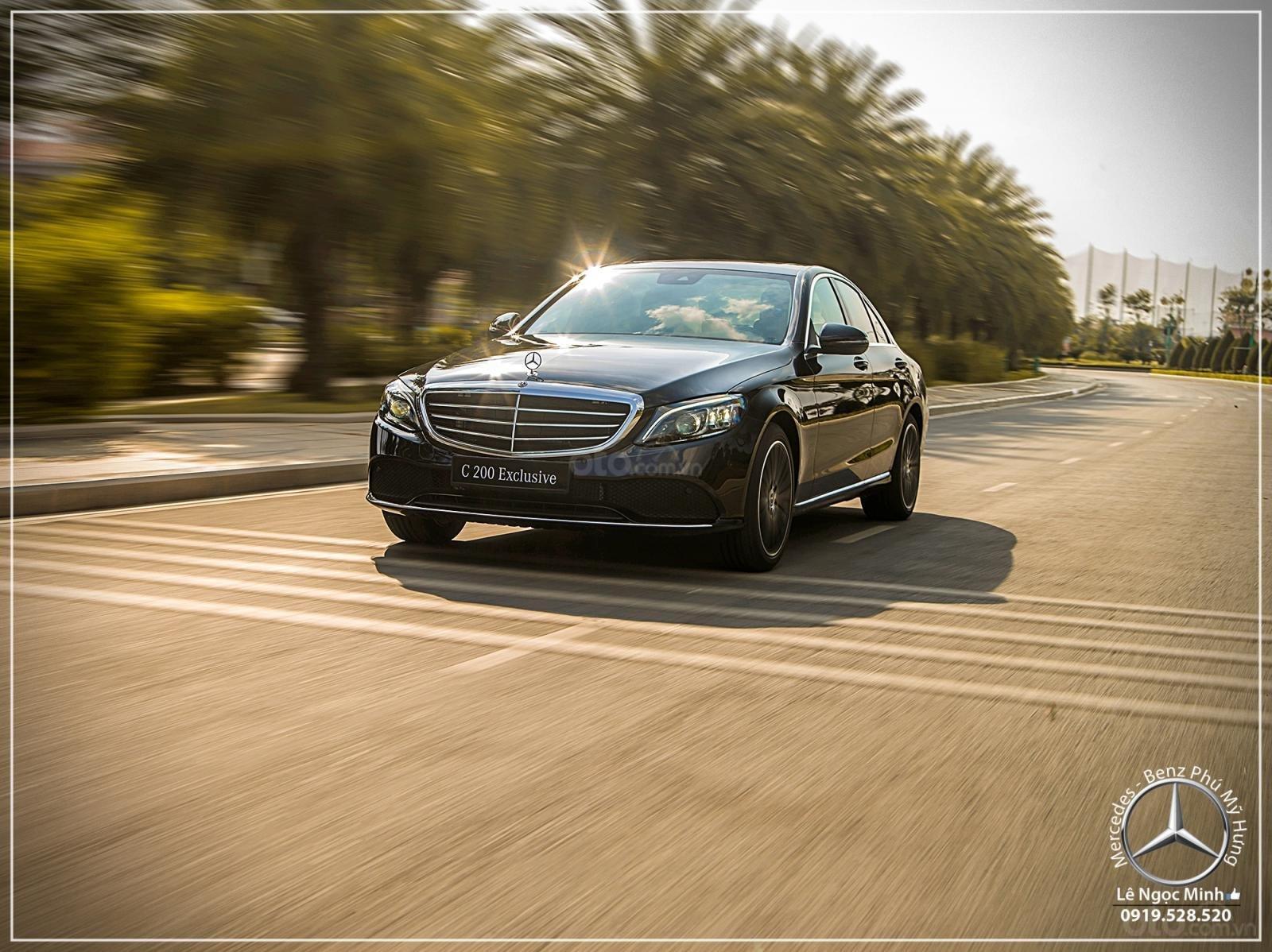 Mercedes-Benz C200 Exclusive - Hỗ trợ 100% phí trước bạ - Ưu đãi khủng trong tháng. LH: 0919 528 520-11