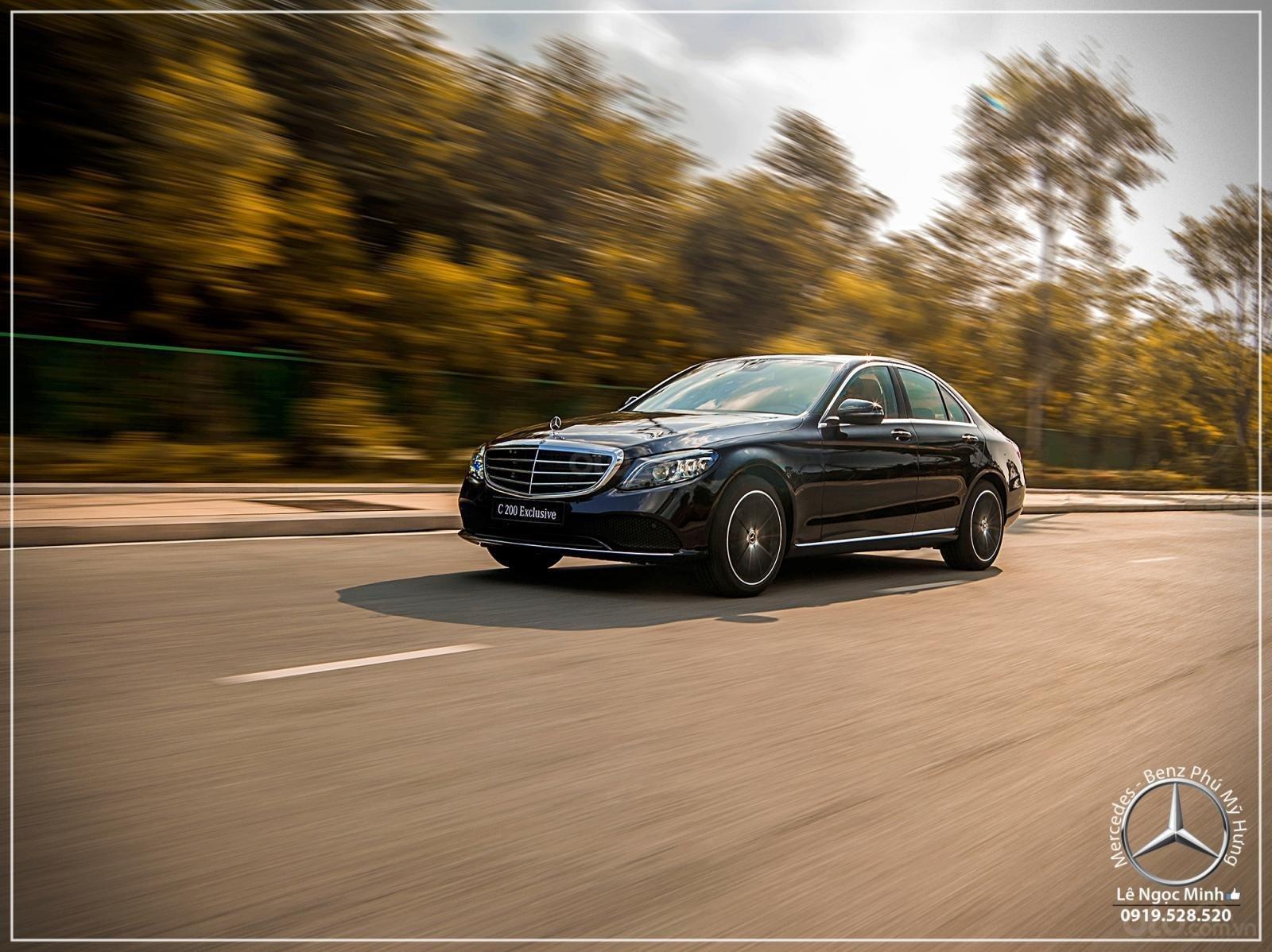 Mercedes-Benz C200 Exclusive - Hỗ trợ 100% phí trước bạ - Ưu đãi khủng trong tháng. LH: 0919 528 520-12