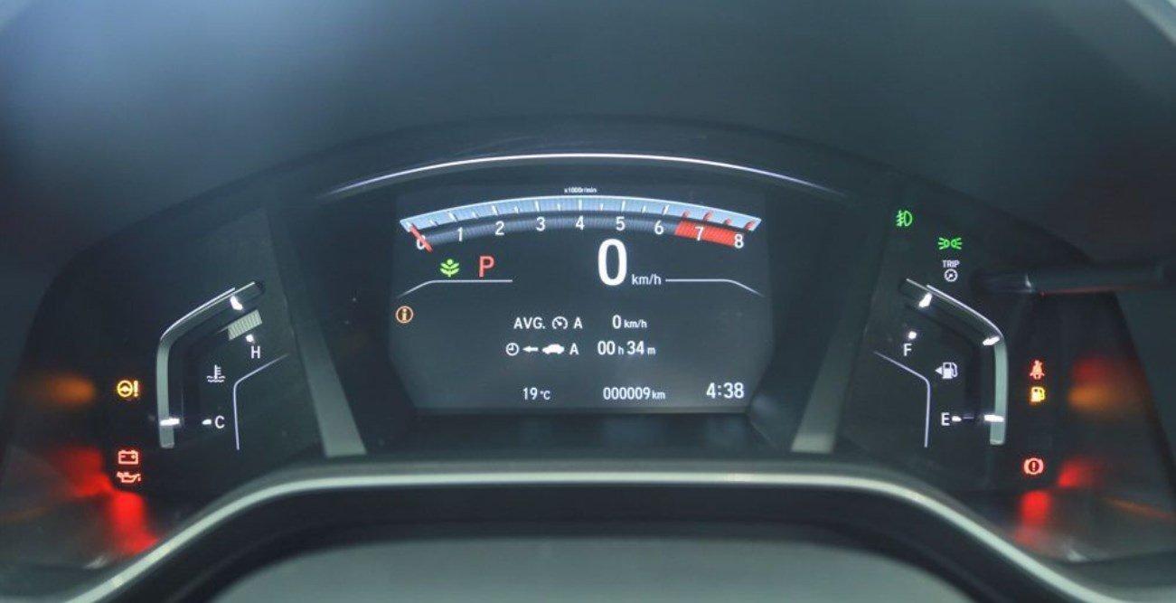Đánh giá xe Honda CR-V 2018 bản 7 chỗ: Cụm đồng hồ.
