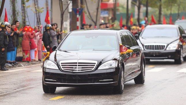 Mercedes-Benz S600 Pullman Guard hộ tống Kim Jong Un về Hà Nội 4