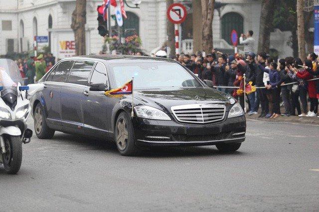 Mercedes-Benz S600 Pullman Guard hộ tống Kim Jong Un về Hà Nội 6