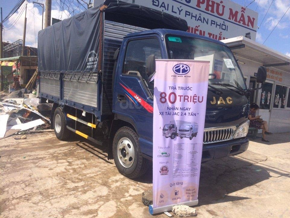 Bán xe máy Isuzu 2t4 thùng 4.4 mét xe mới lắp ráp tại NM JAC Việt Nam-1