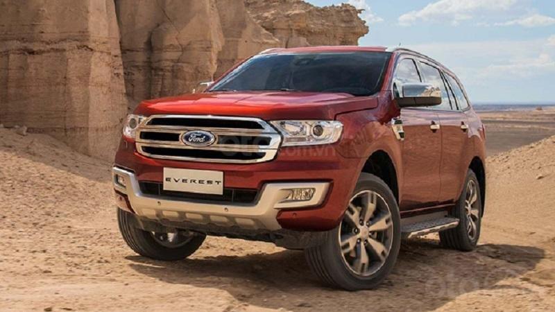 Ford Everest màu đỏ phiên bản 2019...
