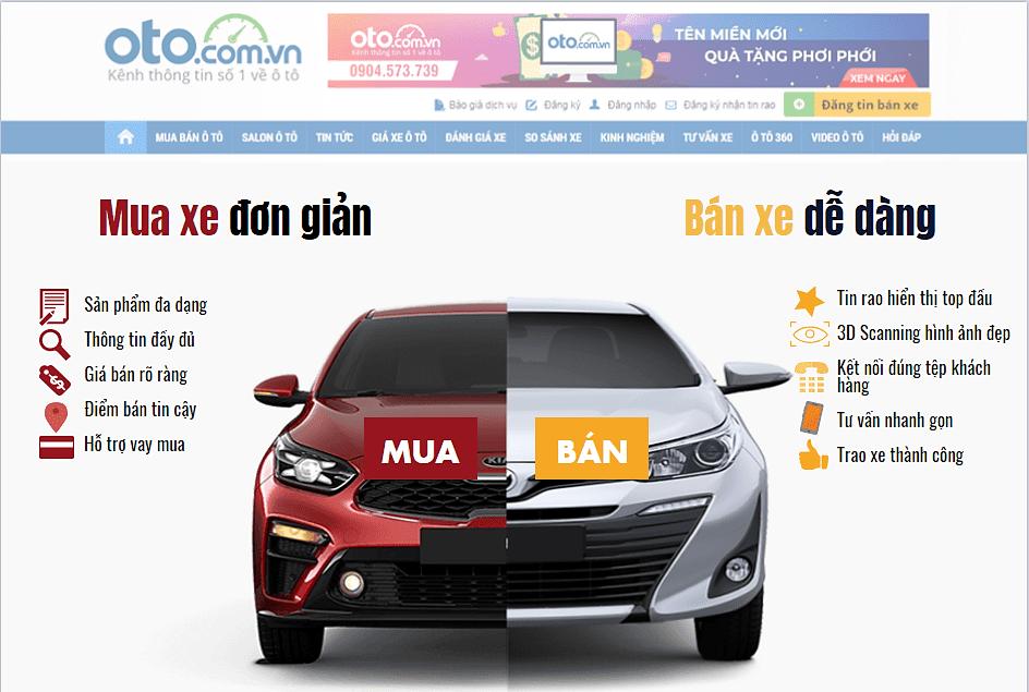 Mua bán ô tô đơn giản, dễ dàng tại Oto.com.vn