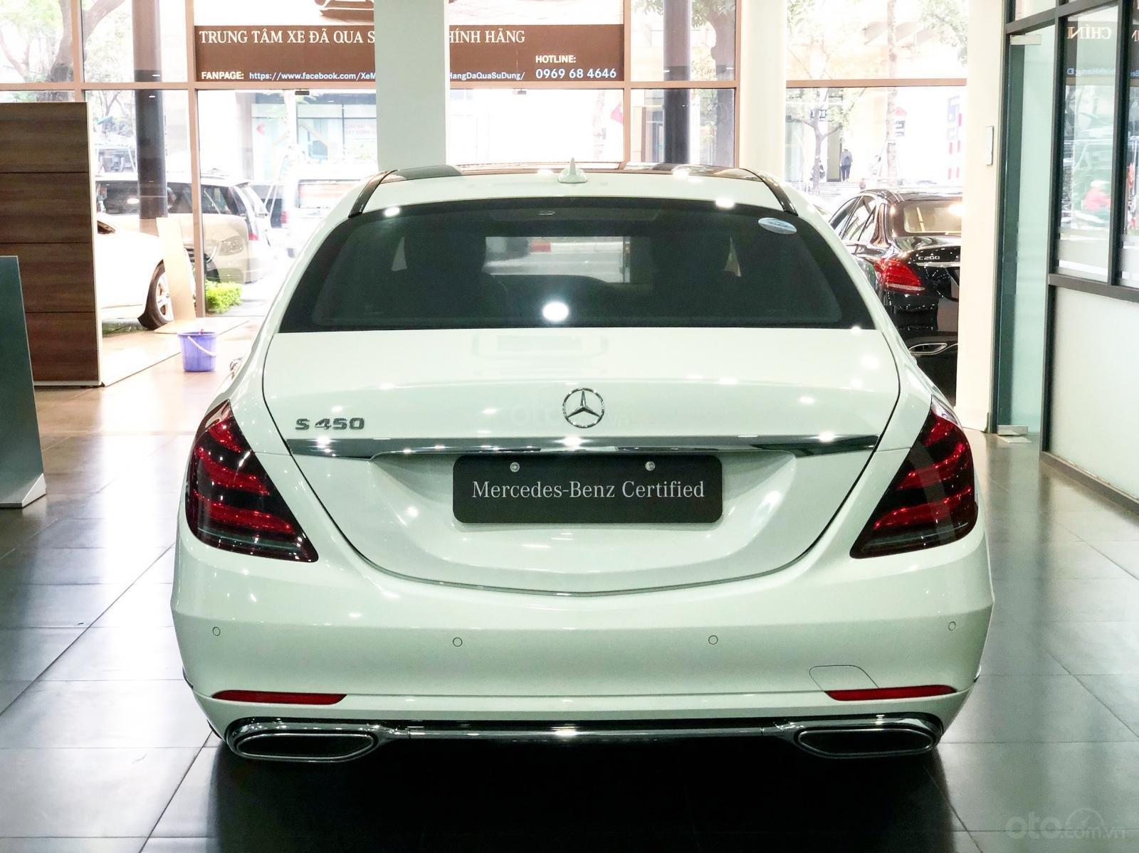 Bán Mercedes S450 2018 màu trắng - xe chính hãng đã qua sử dụng (7)