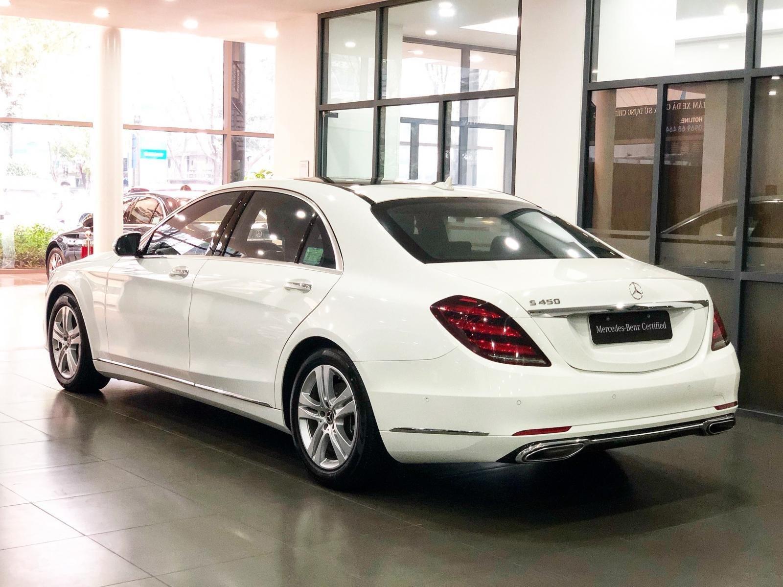 Bán Mercedes S450 2018 màu trắng - xe chính hãng đã qua sử dụng (8)