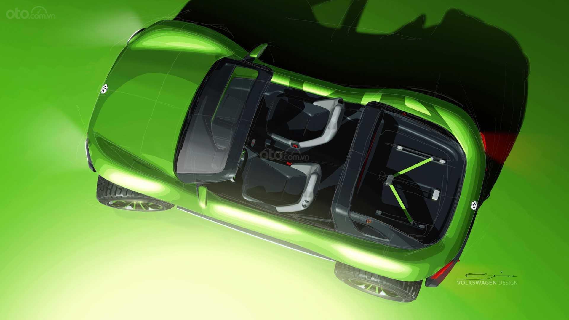 Volkswagen I.D. Buggy Concept cận cảnh nóc xe