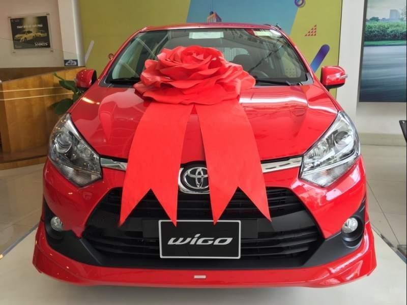 Bán ô tô Toyota Wigo sản xuất 2019, màu đỏ, nhập khẩu nguyên chiếc, giá 345tr-0
