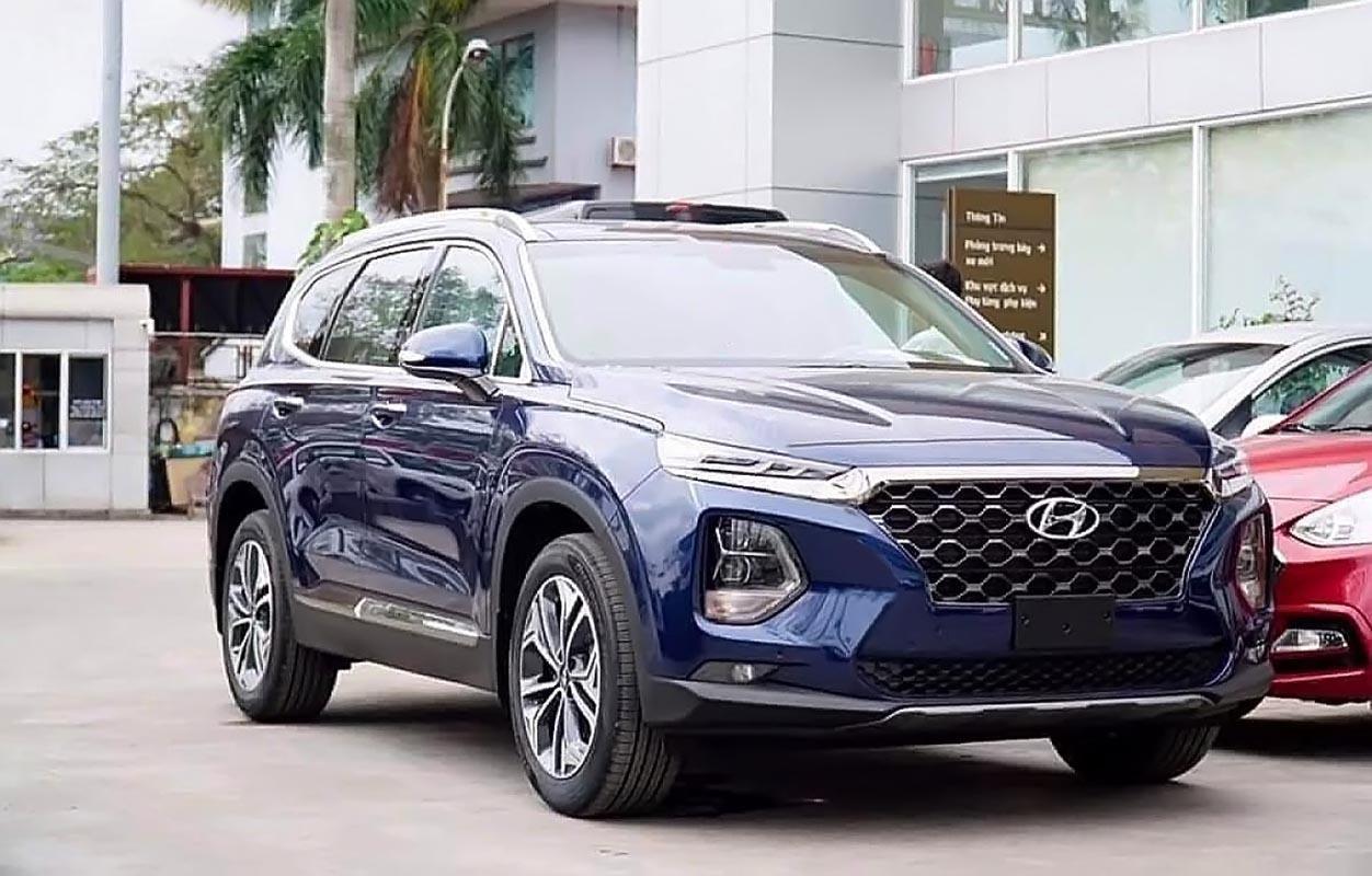 Bán ô tô Hyundai Santa Fe 2.4L HTRAC đời 2019, màu xanh lam, mới 100%-1