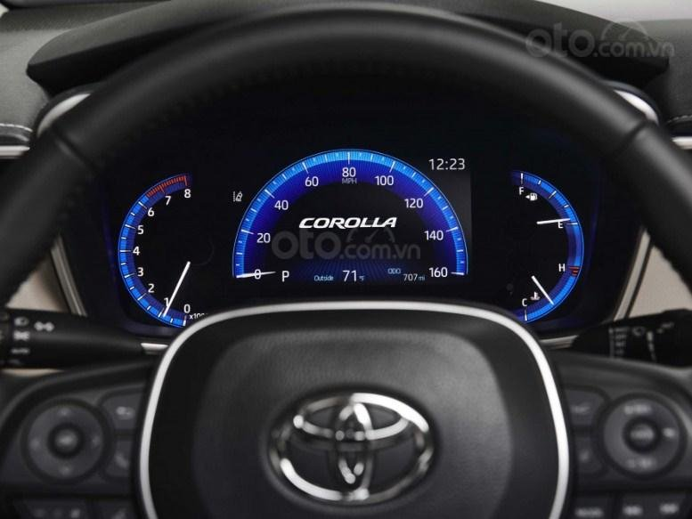 Đánh giá xe Toyota Corolla 2020 - cụm đồng hồ