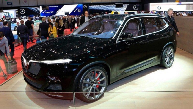 VinFast LUX V8 tại triển lãm Geneva Motor Show...