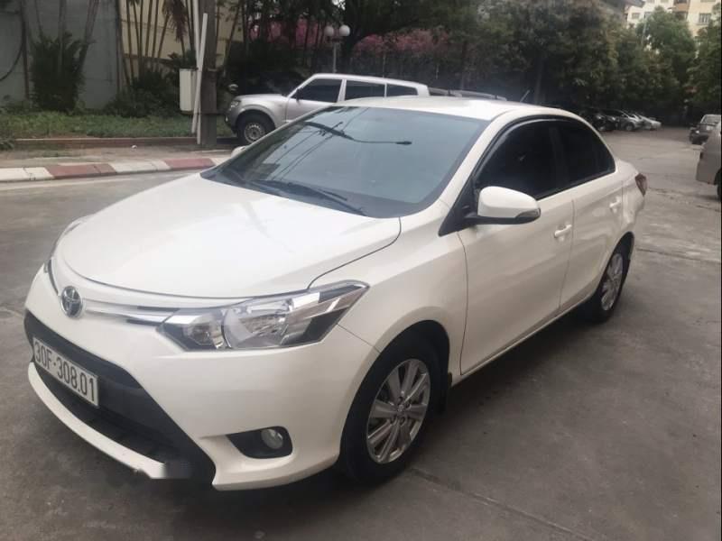 Bán xe Toyota Vios E CVT 2017, màu trắng, số tự động -1