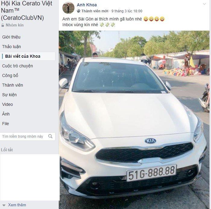 3 tỷ vẫn chưa bán, chủ nhân chiếc Kia Cerato 2019 biển 51G-888.88 muốn gì? a2