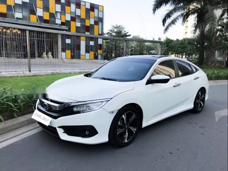 Bán Honda Civic đời 2017, màu trắng, nhập khẩu  -0