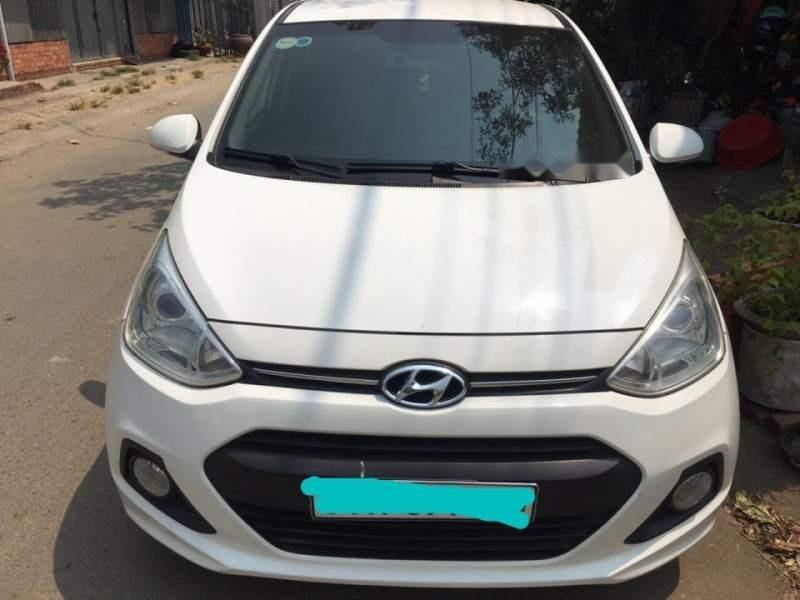 Cần bán lại xe Hyundai Grand i10 đời 2014, màu trắng, nhập khẩu còn mới, giá chỉ 359 triệu (1)