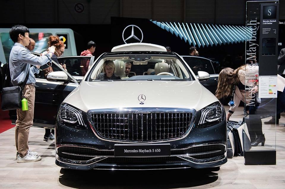 Thiết kế phần đầu xe Mercedes-Maybach S-Class 2019