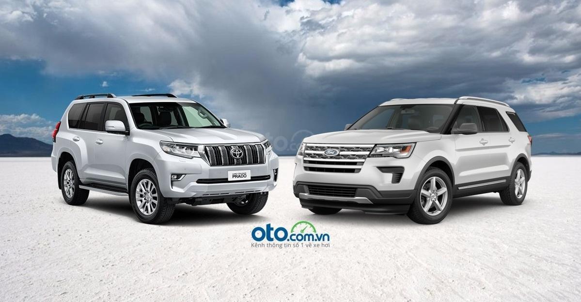 Toyota Land Cruise Prado 2019 và Ford Explorer 2019...