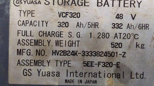 Bán xe nâng hàng, hiệu Komatsu, động cơ điện, model FB14RS-12 (5)